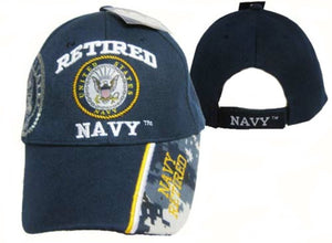 Retired Navy Cap with Shadow Seal and Blue Digi Camo on Bill