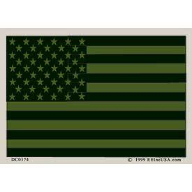 Subdued OD Green U.S. Flag (4