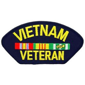 Vietnam Veteran Embroidered Iron On Patch - Suitable for Cap