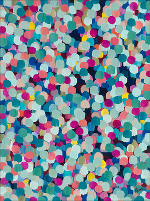"""Colored Dots V"" - Print"