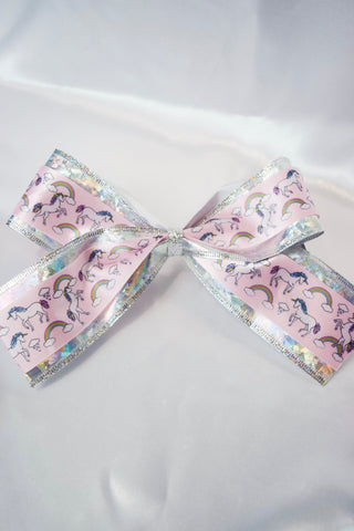 Unicorns and Rainbows Large Hair Bow