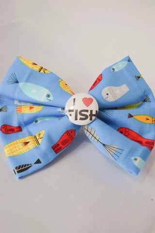 SALE I Heart Fish Hair Bow