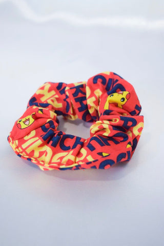 "Red ""Pocket Monsters"" Hair Scrunchie"