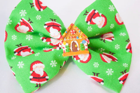 Santa's House Hair Bow