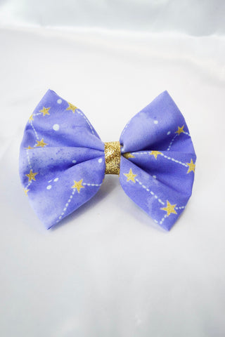 Purple Constellations Hair Bow