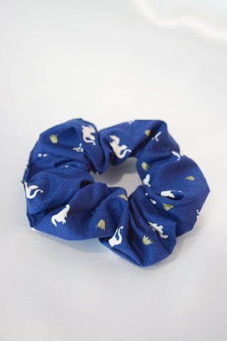 Dragon Dark Blue Hair Scrunchie