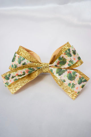 Gold Cactus Small Hair Bow