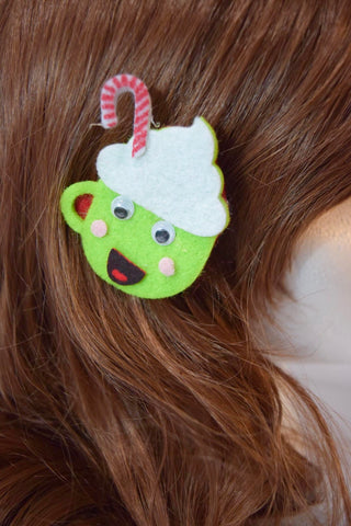 Hot Chocolate feltie hair clip