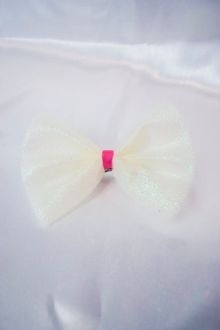 Glitter Tulle Hair Bow