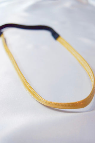 Faux Leather Gold Headband