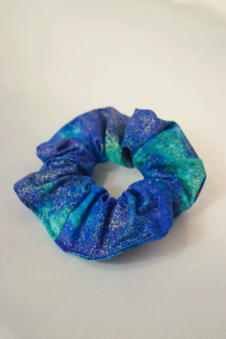 Blue Tie Dye Hair Scrunchie