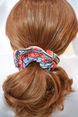 Christmas Knitted Pattern Hair Scrunchie