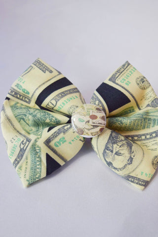 Money Money Money Hair Bow