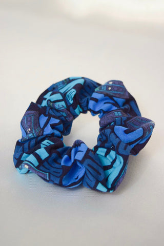 Blue Police Box Hair Scrunchie