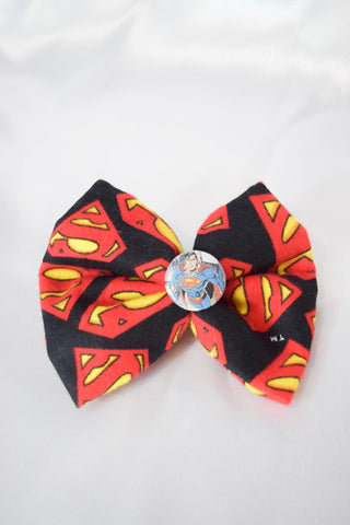 Super Hero Fleece Hair Bow
