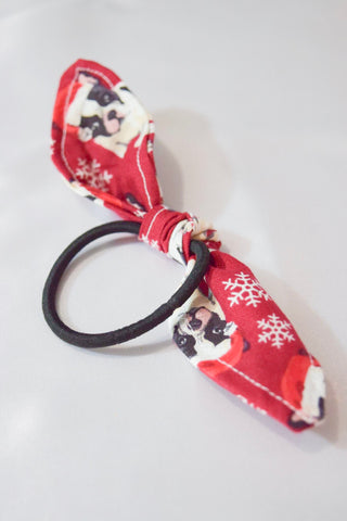 Christmas Puppy Hair Tie