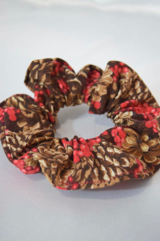 Christmas Pinecones Hair Scrunchie