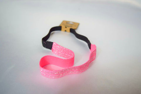 Light Pink Headband With Silver Glitter