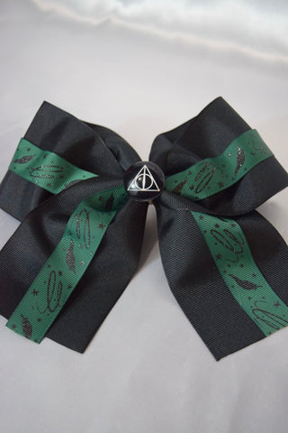 Wingardium Leviosa Green Hair Bow
