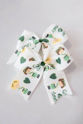 Mini Girl Scout Hair Bow