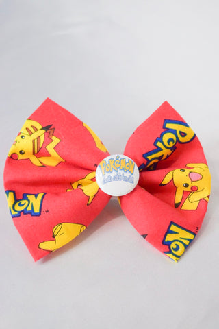 Red Poke Hair Bow