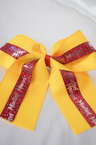Gryffindor Mischief Managed Hair Bow