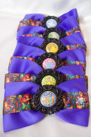 Stained Glass Princesses Hair Bow