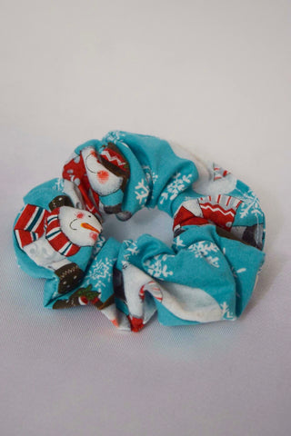 Christmas Snowman Hair Scrunchie