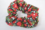 Poinsettia Christmas Hair Scrunchie