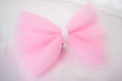 Light Pink Tulle Hair Bow