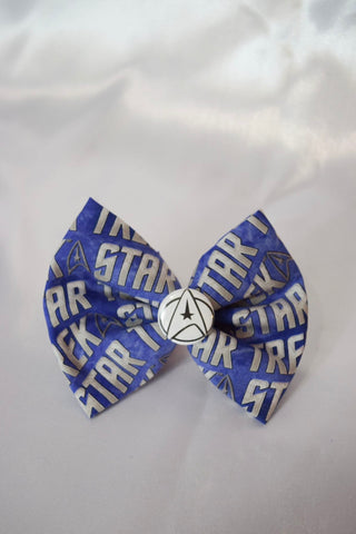 Silver Trek Hair Bow