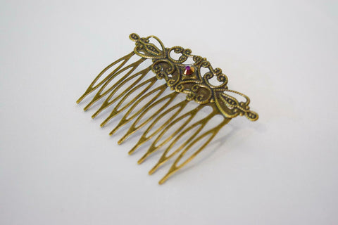 Garnished Gold Hair Comb