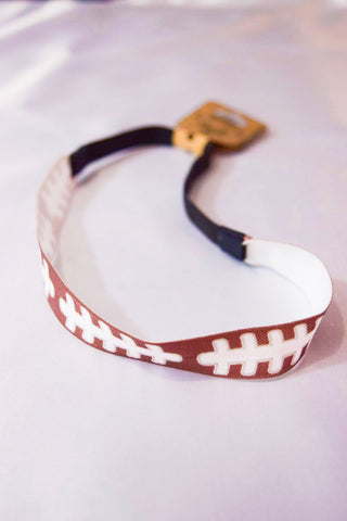 Football Stitching Elastic Headband