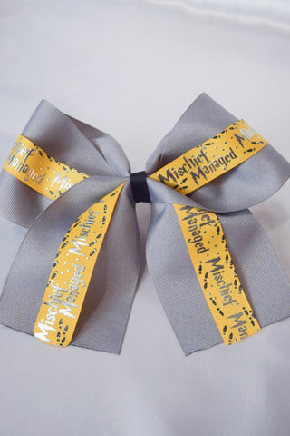 Mischief Managed Hufflepuff Hair Bow