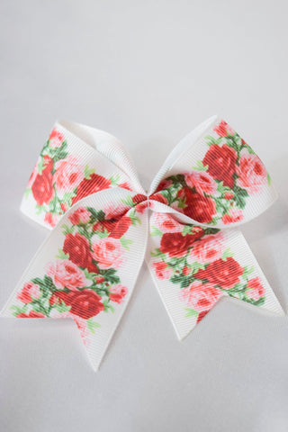 Rose Floral Hair Bow