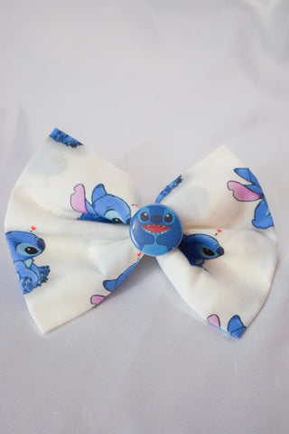 Blue Alien Hair Bow