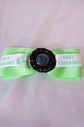 GLOW IN THE DARK Hitchhiking Ghosts Hair Bow
