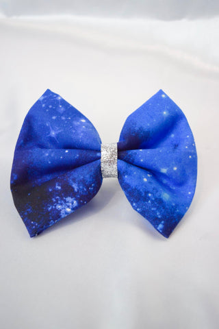 Blue Galactic Hair Bow