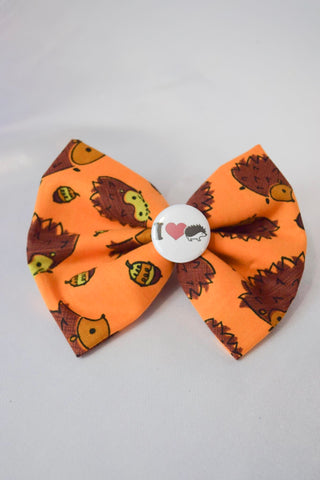 SALE I heart Hedgehogs Hair Bow