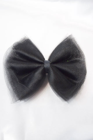 Black Tulle Hair Bow