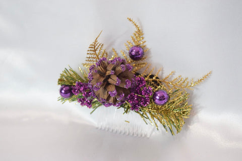 Purple Christmas Hair Comb