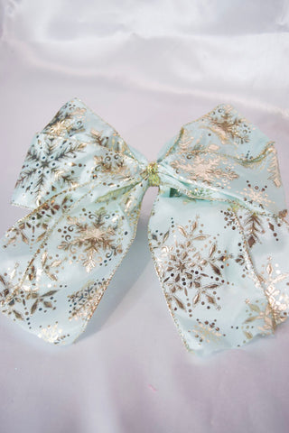 Silver Snowflake Large Hair Bow