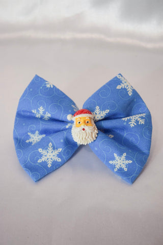 Santa Snowflake Hair Bow