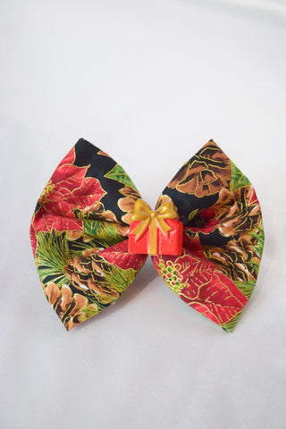 Pine Christmas Gift Hair Bow