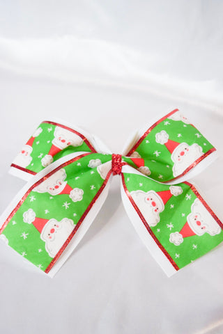 XL Santa Head Hair Bow