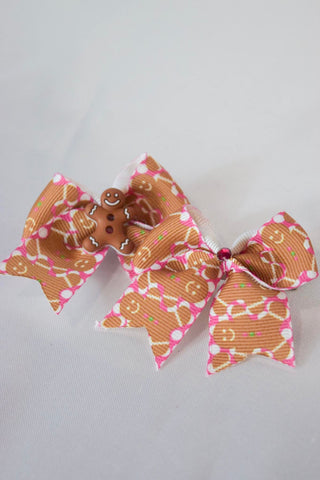 Mini Gingerbread Hair Bow
