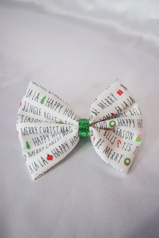 Holiday Card Hair Bow