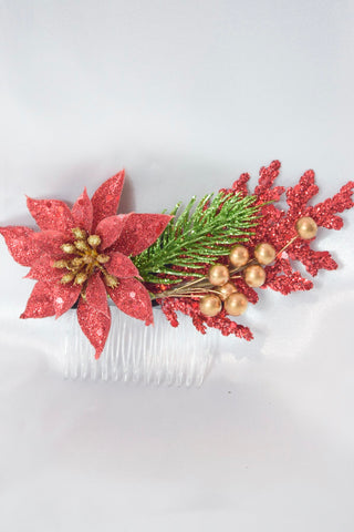Large Christmas Hair Comb