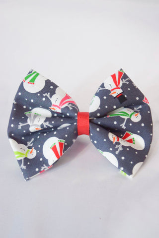 Dapper Snowmen Hair Bow