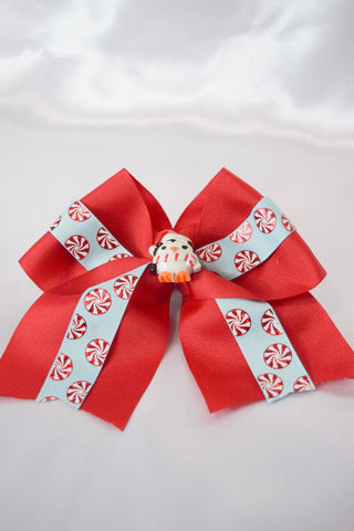 Penguin Peppermint Large Hair Bow
